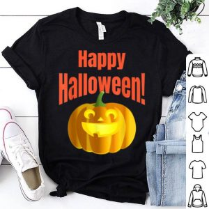 Official Happy Halloween Creepy Smiling Pumpkin shirt