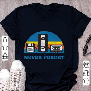 Official Never Forget Floppy Disk Cassette Tape shirt
