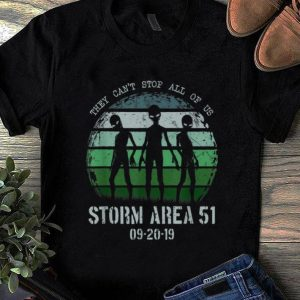 Official They Can't Stop All Of Us Storm Area 51 Alien shirt
