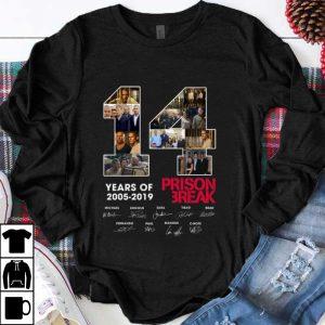 Premium 14 Years Of Prison Break 2005 2019 signature shirt