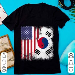 Pretty Half South Korean And American Flag shirt