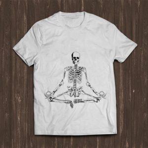 Pretty Halloween Meditating Skeleton Yoga shirt