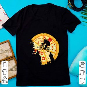 Pretty Ninja Turtle Bike Flying Across Pizza Moon shirt