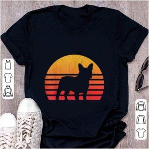 Pretty Vintage Retro Sunset French Bulldog Silhouette shirt