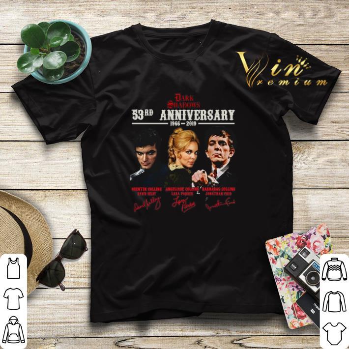 Signatures Dark Shadows 53rd anniversary 1966 2019 shirt 4 - Signatures Dark Shadows 53rd anniversary 1966-2019 shirt