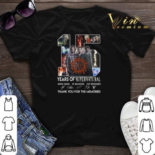 Thank you for the memories 15 years of Supernatural 2005-2020 shirt