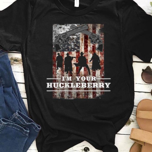 Top I'm your Huckleberry American Flag Revolver shirt