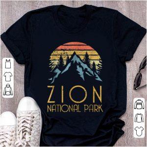 Top Vintage Retro Zion National Park Utah shirt