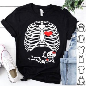 Awesome Skeleton Pregnant Baby Girl Funny Halloween Ideas For Mother shirt