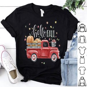 Beautiful Hello Fall Vintage Pickup Pumpkin Patch Leaves shirt