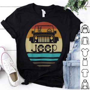 Beautiful Retro Vintage German Shepherd Dog on Jeeps 70s Off Road Gift shirt