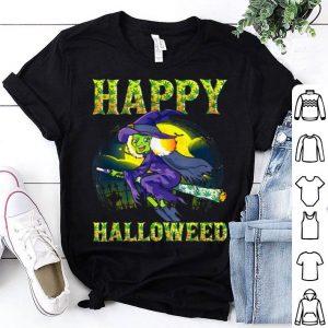 Halloween Happy Halloweed Witch Marijuana Weed 420 Women shirt