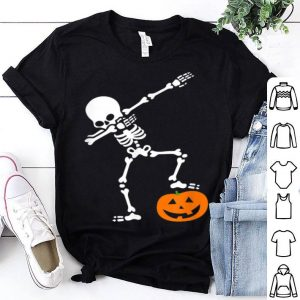 Halloweens For Boys Kids Dabbing Skeleton Pumpkins shirt