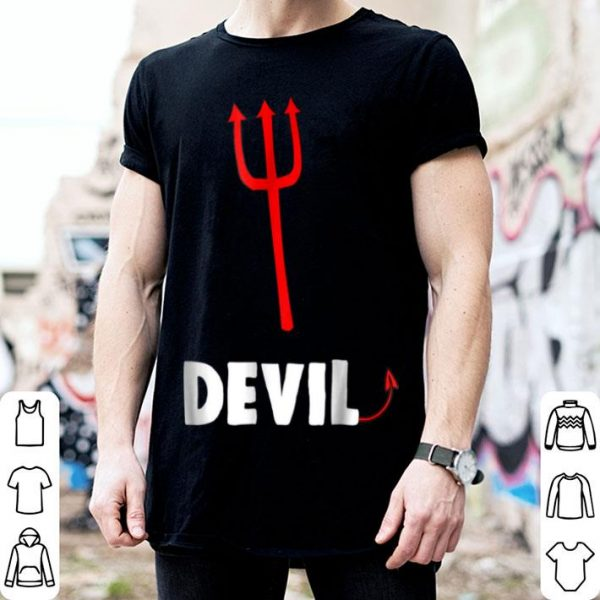 Hot Couple Matching Halloween Costumes Devil shirt
