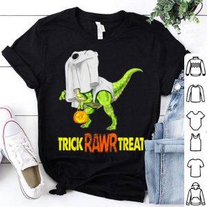 Hot Halloween T Rex Dinosaur Ghost Trick Rawr Treat Funny Cute shirt