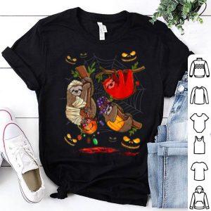Hot Sloth Happy Halloween Cute Mummy Witch Pumpkin shirt