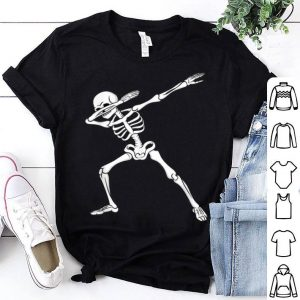 Nice Dabbing Skeleton Kids Boys Halloween Dab Dance shirt
