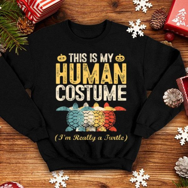 Official This Is My Human Costume I'm Really A Turtle Halloween Gift shirt