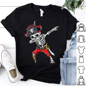 Original Dabbing Skeleton Pirate Halloween Kids Jolly Roger shirt