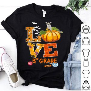Original Love 3rd Grade Halloween Student Teacher Kids Tee shirt