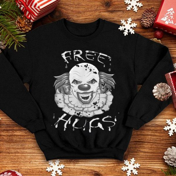 Premium Scary Halloween Clown Free Hugs Evil Killer Design shirt