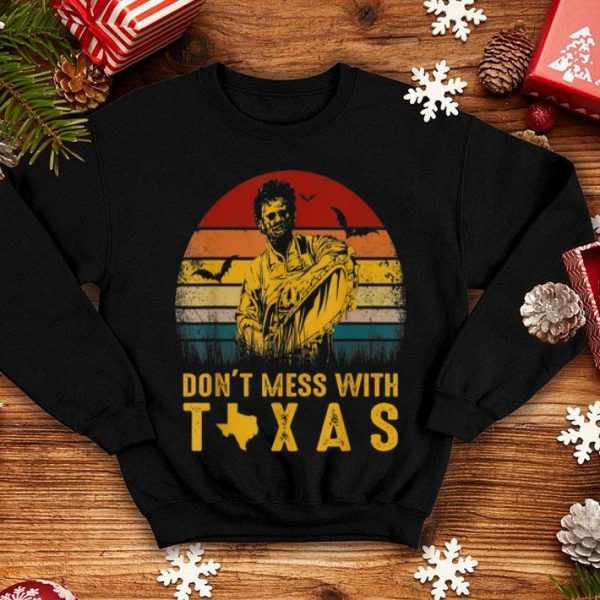 Top Dont Mess With Vintage Texas Funny Halloween shirt