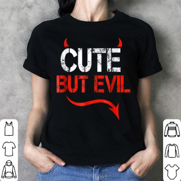 Awesome Cute but Evil Little Devil Halloween shirt