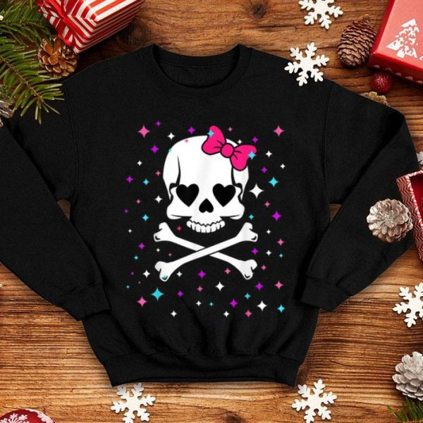 Awesome Halloween For Girls CUTE SKULL AND CROSSBONES shirt