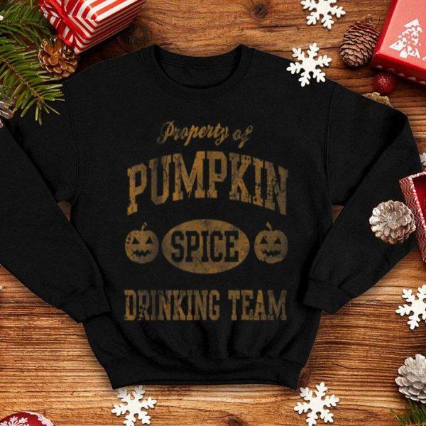 Awesome Pumpkin Spice Drinking Team Halloween Women Girls shirt