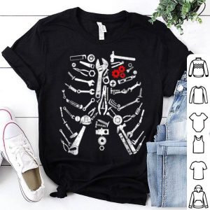 Beautiful Mechanic Skeleton Craftsman Mechanic Tools Halloween shirt