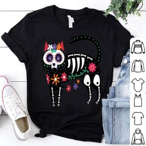 Beautiful Sugar Skull Black Cat Day of Dead Skeleton Calavera Gift Fan shirt
