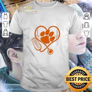 Cheap Stethoscope love Clemson Tigers shirt