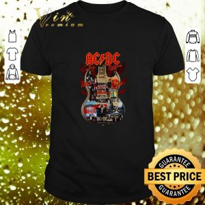 Cool ACDC signatures guitar shirt