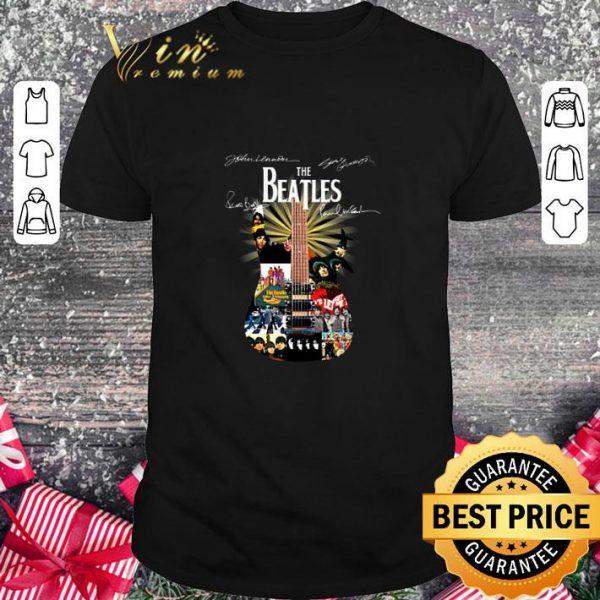 Cool The Beatles Guitarist Signatures shirt