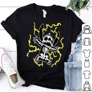 Funny Disney Stitch Skeleton Halloween shirt