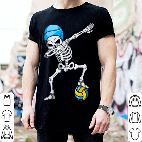 Funny Halloween Dabbing Skeleton Water Polo Youth Apparel Boy Kid shirt