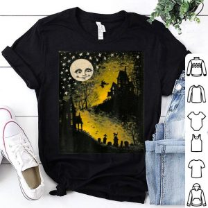 Funny Sweet n' Spooky Vintage Style Halloween Moon, Witch T- shirt
