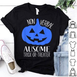 Hot Trick or Treat Non-Verbal Halloween Pumpkin Autism Awareness shirt