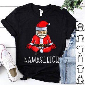 Hot Yoga Christmas Funny Namasleigh Santa Meditate shirt