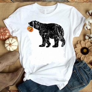 Nice Vintage Polar Bear Halloween Costume Pumpkin Gifts Mom Dad shirt
