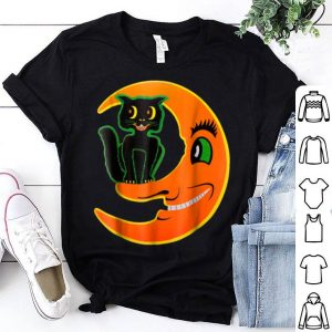 Official Vintage Halloween Beistle Cat on the Moon Horror Gift shirt