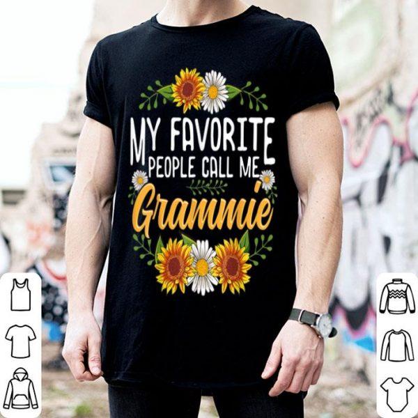 Original My Favorite People Call Me Grammie Thanksgiving Gifts shirt