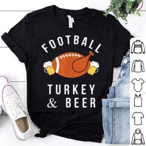Premium Football Turkey & Beer Funny Thanksgiving Drinking shirt