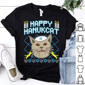 Premium Happy Hanukcat Hannukah Jewish Cat Ugly Christmas Sweater shirt