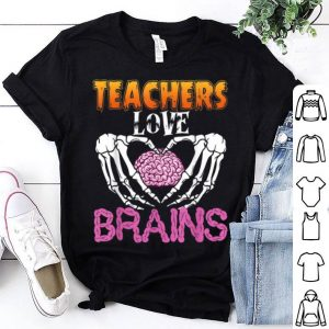 Premium Teacher Love Brains Funny Halloween shirt
