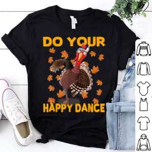 Top Cute Dancing Thanksgiving Turkey Gift for Adults Kids Baby shirt
