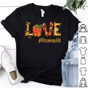Top Love Meemaw life- Halloween sunflower Pumpkin shirt