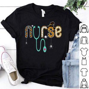 Top Nurse Halloween Spider Witch hat ghost Stethoscope shirt