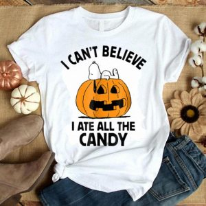 Top Peanuts Halloween Snoopy All The Candy shirt