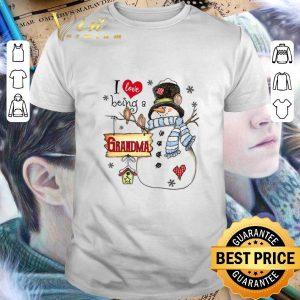 Top Snowman I love being a grandma Christmas shirt